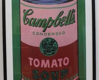 Framed Andy Warhol poster