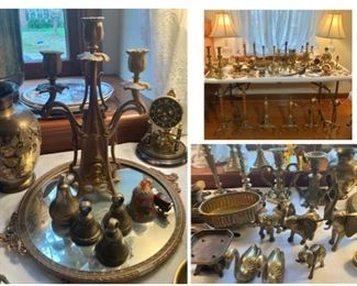 Tons of Antique and Vintage Brass Collectibles