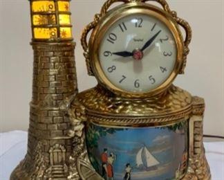 Vintage United Motion Light Up Clock works