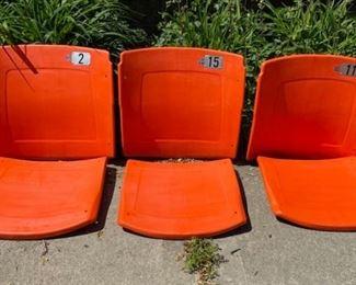 Original Vintage BUSCH STADIUM Seat and Backs