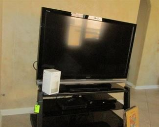 """52"""" SONY BRAVA TELEVISION AND STAND"""