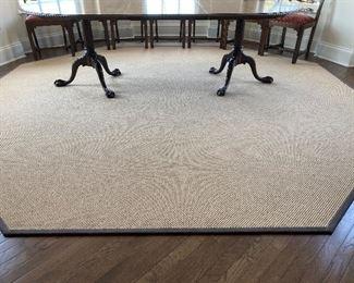 Lot#4- $150- Dining rug-octagonal