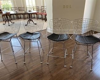 "Lot#5 $300- Bertoia Style counter stools 24""high seats"