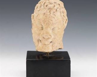 Museum Reproduction of Satyr Head, on Base
