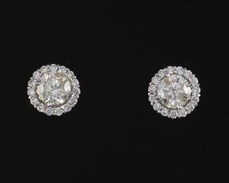 Pair of Diamond Stud Earrings