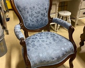 Blue Cushion Parlor Chair