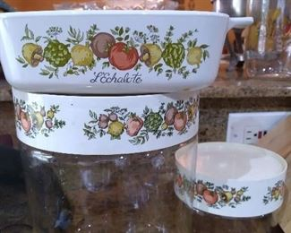 Corning Ware casserole & canisters in L'Echalote