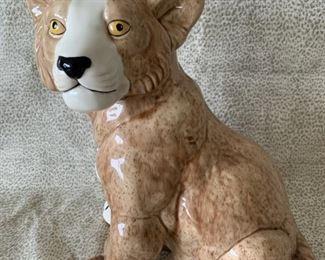 """#1 handprinted lion cub, 1960s, 14"""" high—$68"""