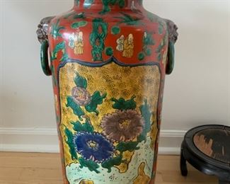 #69 A large Ko-kutani vase, first half of the 20th century, Fuku mark—$375