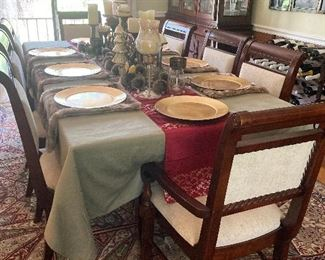 Dining room table w/8 chairs