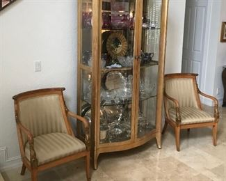 """Gilded Cabinet with two front doors and shelves.  80""""x41""""x18"""""""