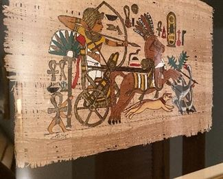 Vintage Authentic Hand Painted Papyrus