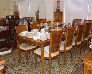 Large Table with 12 Chairs