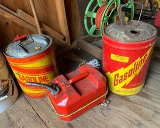 Old gas cans