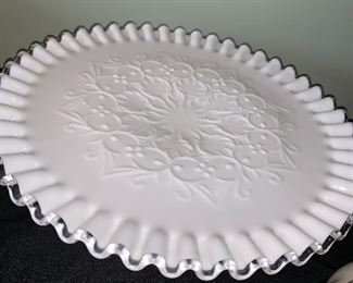 Spanish Lace Cake Plate Stand in beautiful condition