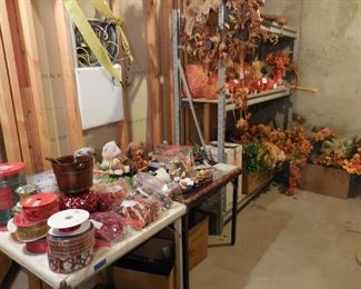 Holiday items and artificial flowers