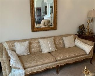 $725~ OBO~GORGEOUS CUSOM UPHOLSTERED  FRENCH ANTIQUE SOFA