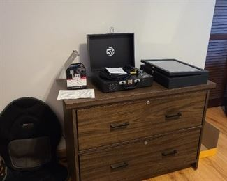 MCM MILL CRAFT FILE CABINET Record Player Area Rug