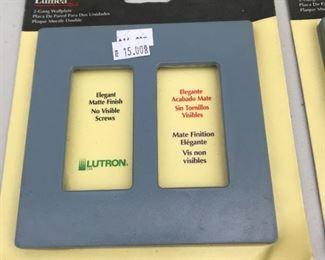 P4: Lutron Lumea 2,  2-Gang Wallplate, Dusk Blue