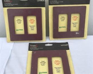 P5: Lutron Lumea 2,  2-Gang Wall Plate, Elegant Matte/ Acabado Finish, Burgundy Color