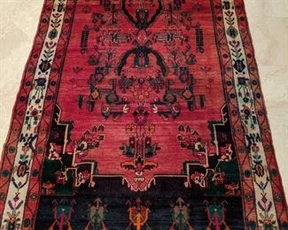 """Scandalous, vintage Persian Malayer Sarouk gallery runner, hand-woven, 100% wool face, measures 5' 1"""" x 10' 9""""."""