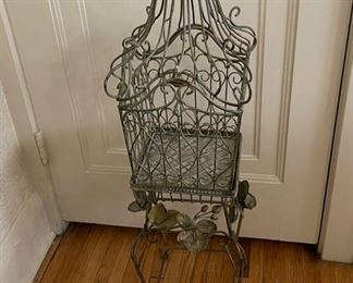 "$30.00..................Ornamental Cage with Stand 36"" tall (B231)"