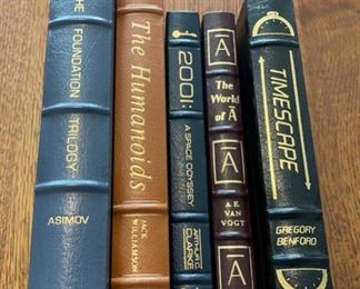 $75.00....................5 Easton Press Collectible Leather Books: The Foundation Trilogy, The Humanoids, 2001, The World of A, Timescape (B900)