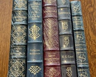 $100.00....................5 Easton Press Collectible Leather Books Still In Original Shrink-wrap: A Thousand Days, Alexander Graham Bell, Dostoevsky, Confucuis, The Paradox Men (B858)
