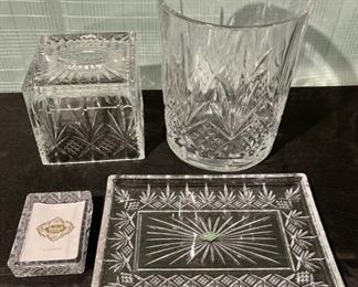 $80.00...............Godinger Shannon Crystal Bathroom Set over $200 new (B730)