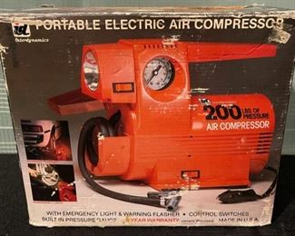 $30.00...................Portable Electric Air Compressor (B700)
