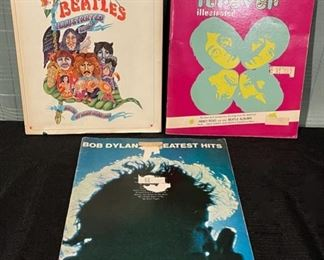 $16.00...................Beatles and Dylan Music Books (B684)