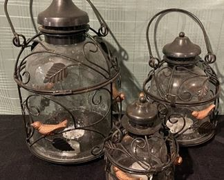 $20.00...................Garden Lanterns set of 3 (B682)