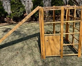 $300.00.................Community Playthings Jungle Gym with Slide and Fabric Curtains for Plays over $800.00 new