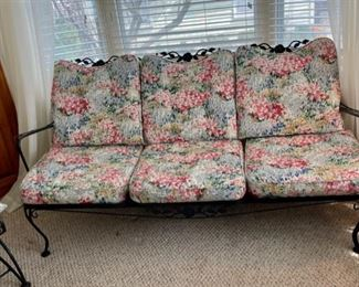 $250.00..................Lyon Shaw Windflower Sofa and pair (2) of stacking tables(B022-A)