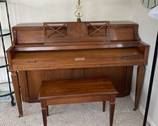 $300.00..............Baldwin Upright Piano, comes with Piano Light, Box of sheet music and bench *must have professional piano mover to move (B029)
