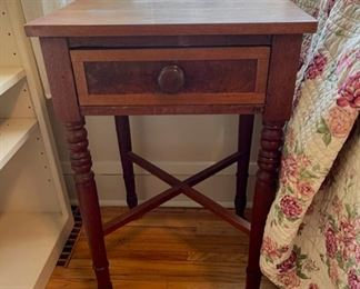 "$50.00..................Vintage End/Side Table 18"" x 17"", 29 1/2"" tall (B034)"
