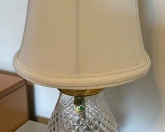 "$20.00..................Waterford Lamp 12"" tall (B)"