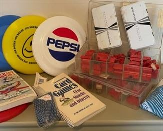 $25.00..................Vintage Frisbees, Toys and Art Supplies (B040)