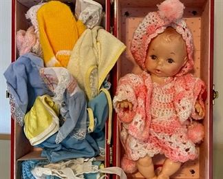 $40.00....................Doll with Case and Clothes (B057)