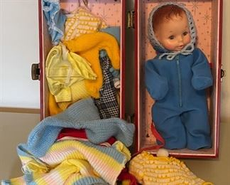 $40.00....................Doll with Case and Clothes (B058)