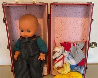 $60.00.................Furga Doll with Case and Clothing  (B060)