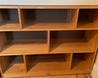 "$200.00...............Community Playthings Pegboard Backed Fixed Shelf,  Rifton N.Y. 14 1/2"" x 48 1/2"", 37"" tall **$585.00 new  (B100)"