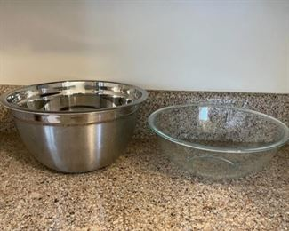 $12.00.....................Stainless and Glass Mixing Bowl (B124)