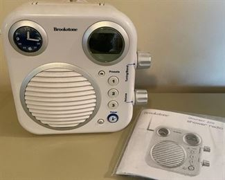 $40.00.................Brookstone Shower Radio (B155)