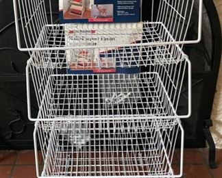 $16.00..................4 Large Multi Purpose Storage Baskets (B184)