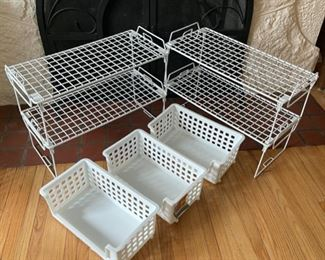 $14.00.......................Storage Baskets and Shelving Lot (B186)