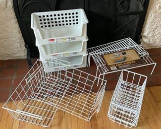 $16.00......................Storage Baskets and Shelving lot (B188)