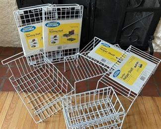 $14.00....................Storage Baskets and shelving lot (B192)