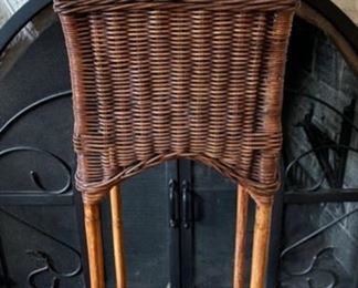 "$40.00.................Wicker Plant Stand 36 1/2"" tall (B200)"