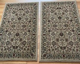 "$25.00...................Pair of Rugs 2' x 3'3""  (B272)"